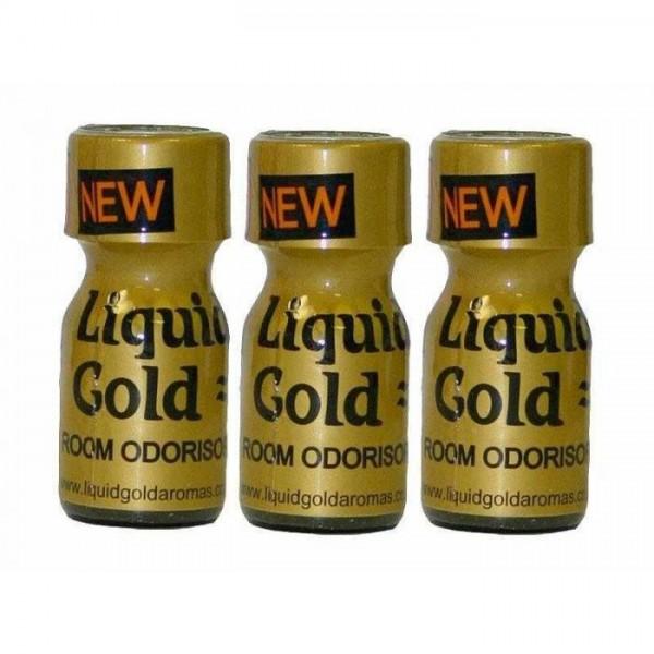 Poppers Liquid Gold 10ml 3 Flesjes