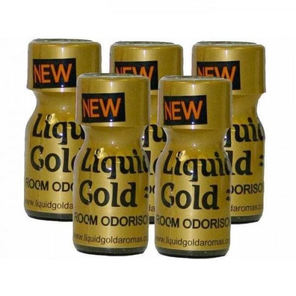 Poppers Liquid Gold 10ml 5 Flesjes