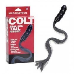 Colt Stallion Tail - Ribbed - Dildo Anaal